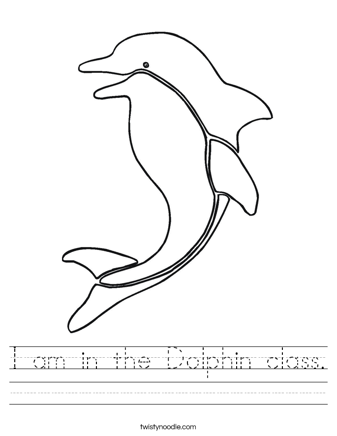 I am in the Dolphin class. Worksheet