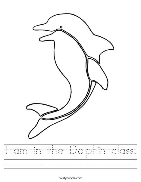 I am in the Dolphin class Worksheet - Twisty Noodle