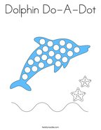 Dolphin Do-A-Dot Coloring Page