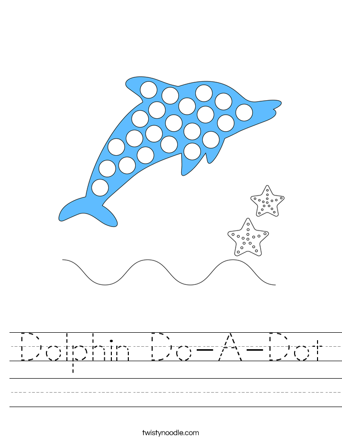Dolphin Do-A-Dot Worksheet