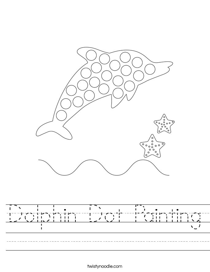 Dolphin Dot Painting Worksheet