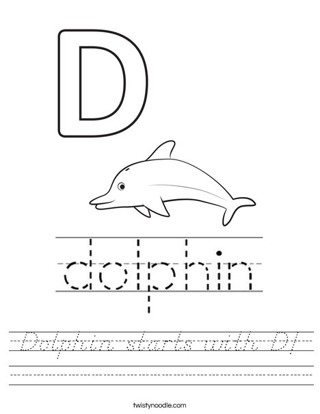 Dolphin starts with D! Worksheet