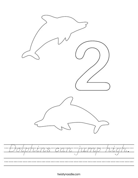 Two Dolphins Worksheet