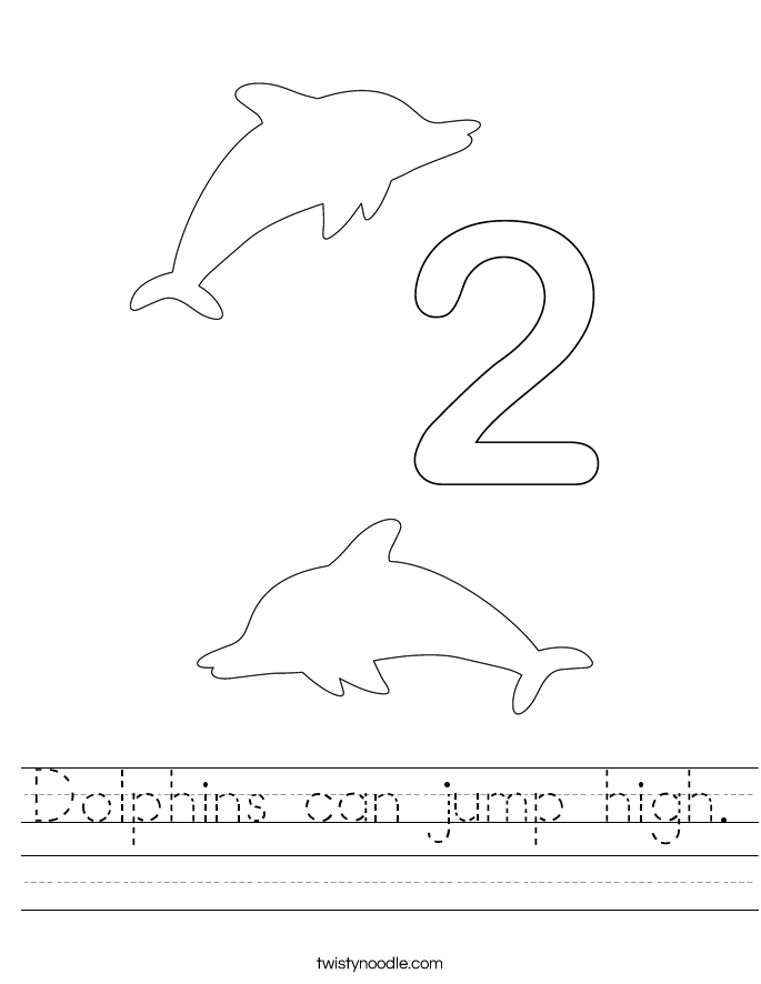 Dolphins can jump high. Worksheet