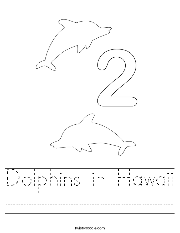 Dolphins in Hawaii Worksheet