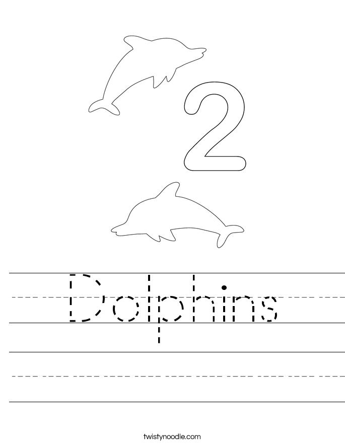 Dolphins Worksheet
