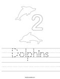 Dolphins Worksheet