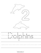 Dolphins Handwriting Sheet