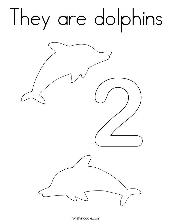 They are dolphins Coloring Page