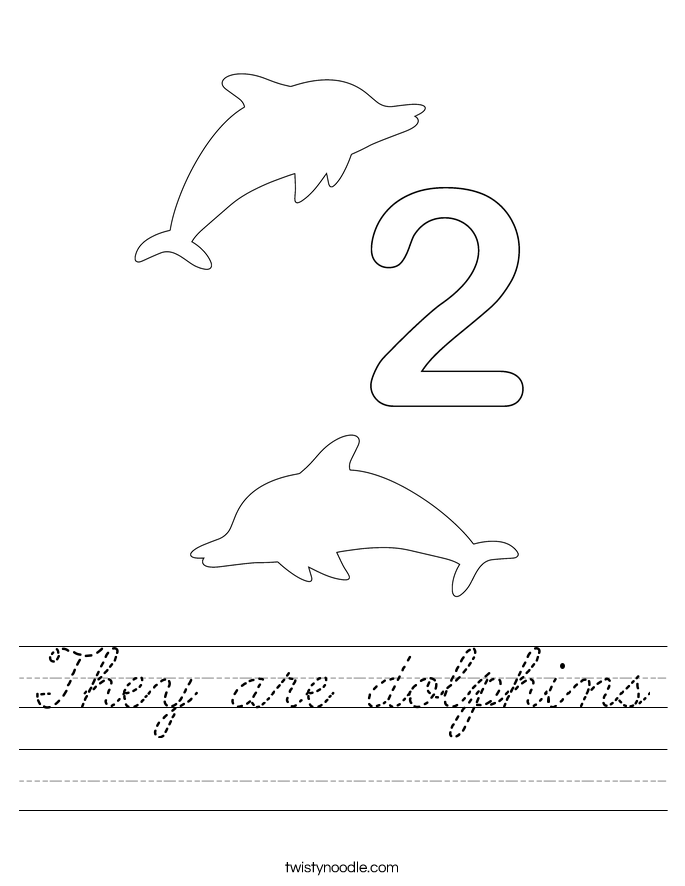 They are dolphins Worksheet