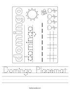 Domingo Placemat Handwriting Sheet