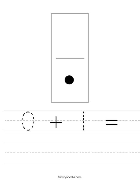 Domino One Worksheet