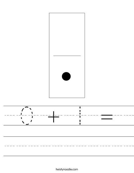 Domino One Worksheet