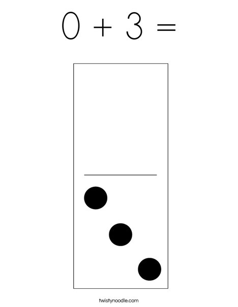 Domino Three Coloring Page