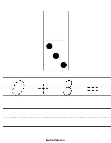 Domino Three Worksheet