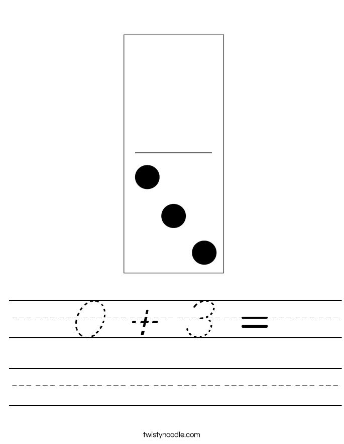 0 + 3 = Worksheet