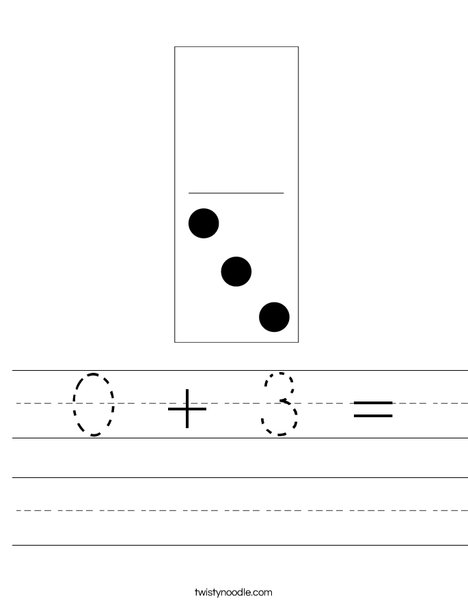 Domino Three Worksheet
