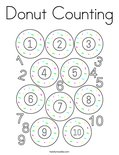 Donut Counting Coloring Page