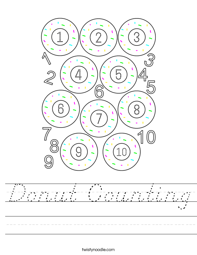 Donut Counting Worksheet