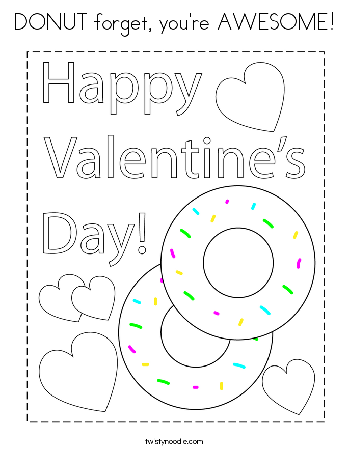 DONUT forget, you're AWESOME! Coloring Page