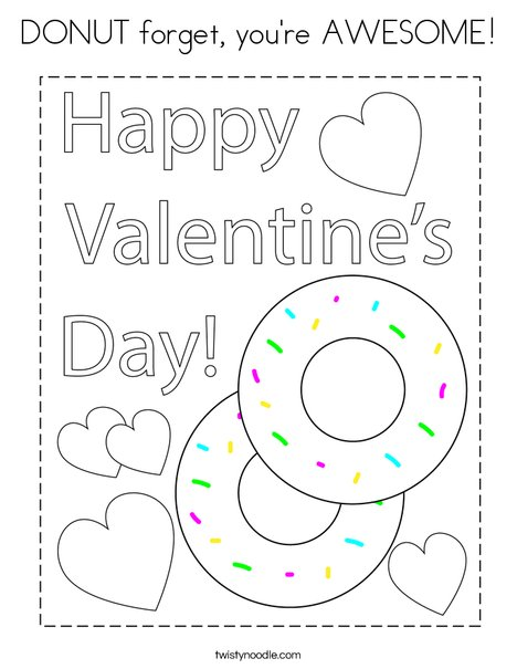 DONUT forget you're AWESOME! Coloring Page