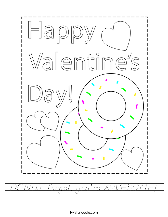 DONUT forget, you're AWESOME! Worksheet