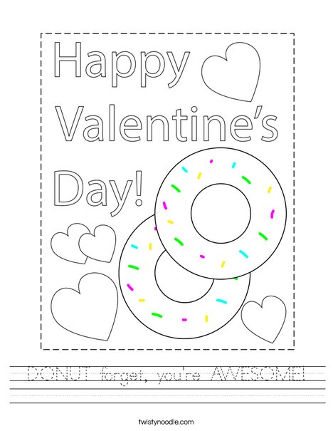 DONUT forget you're AWESOME! Worksheet