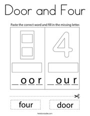 Door and Four Coloring Page