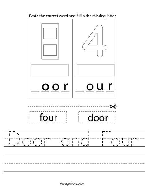 Door and Four Worksheet