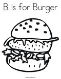B is for BurgerColoring Page