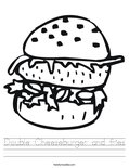 Double Cheeseburger and fries Worksheet