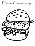 Double Cheeseburger Coloring Page