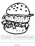 Double Cheeseburger Worksheet