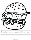 I ate a cheeseburger Worksheet