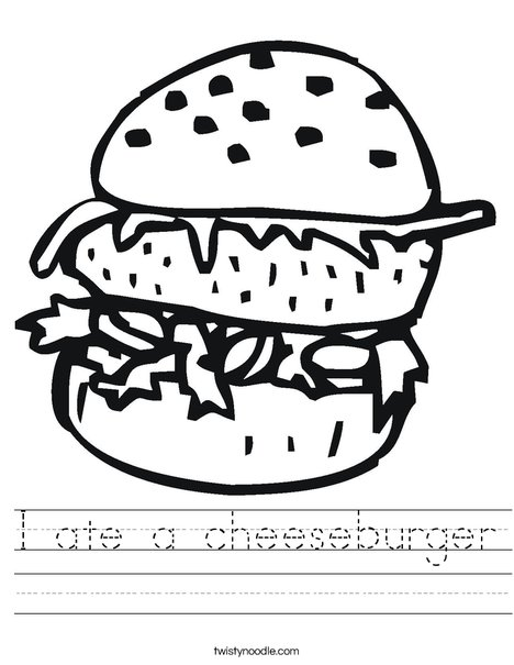 Double Cheeseburger Worksheet