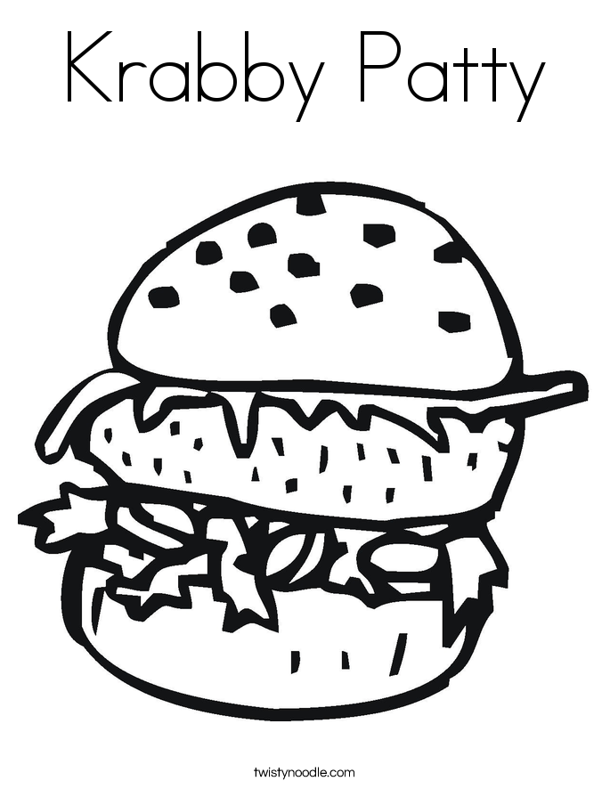 Krabby Patty Coloring Page