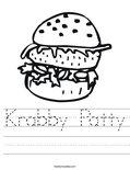 Krabby Patty Worksheet