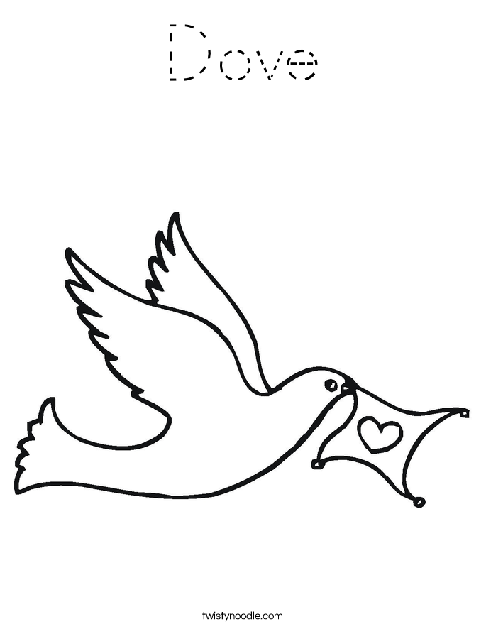 Dove Coloring Page