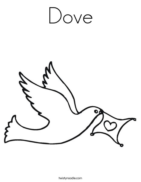 Dove Coloring Page Twisty Noodle