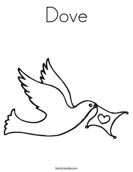 Dove Coloring Page - Twisty Noodle