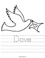 Dove Handwriting Sheet