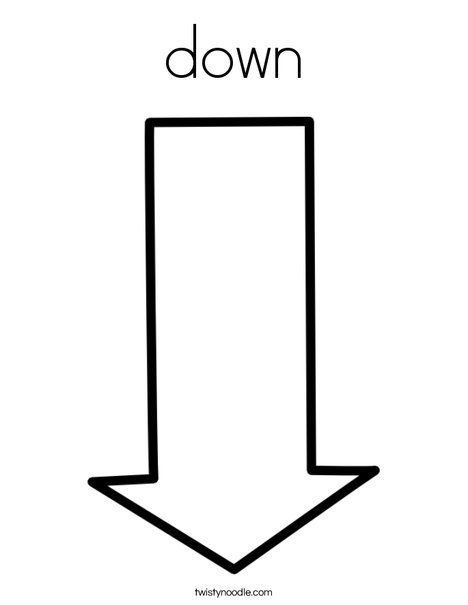Down Arrow Coloring Page
