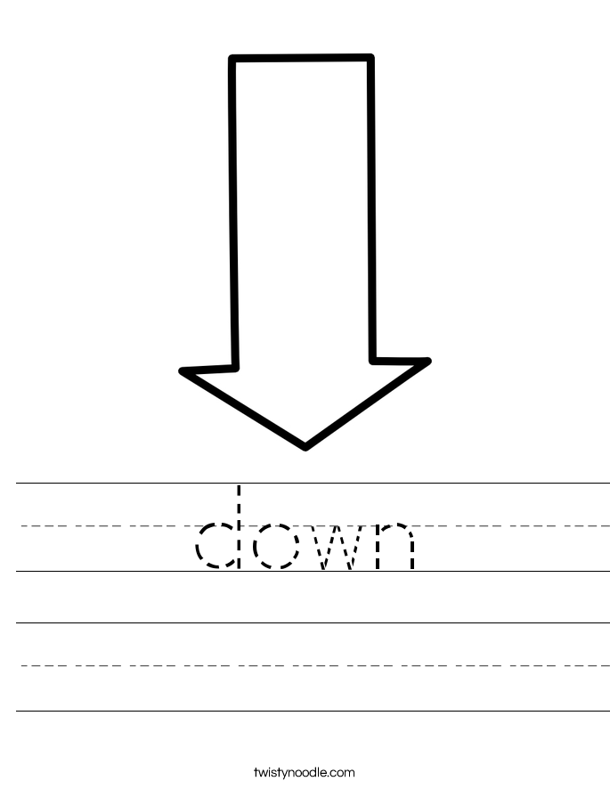 down Worksheet - Twisty Noodle