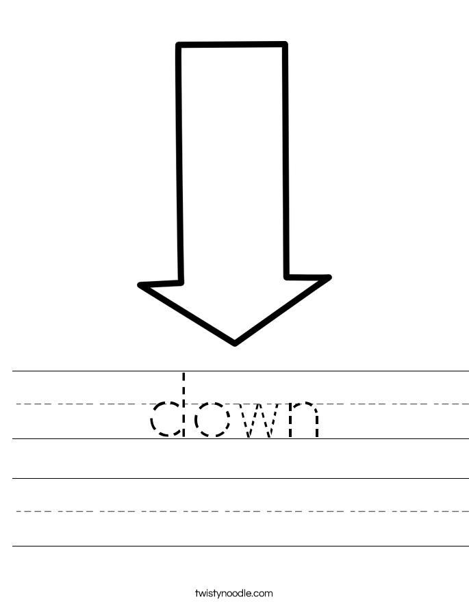 down Worksheet