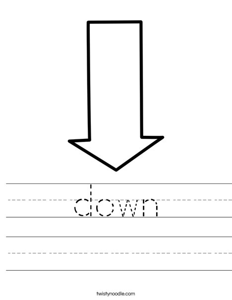 Down Arrow Worksheet