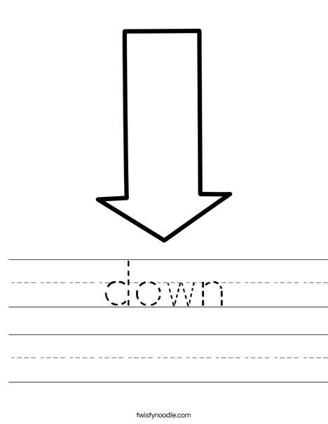 Down Arrow Worksheet