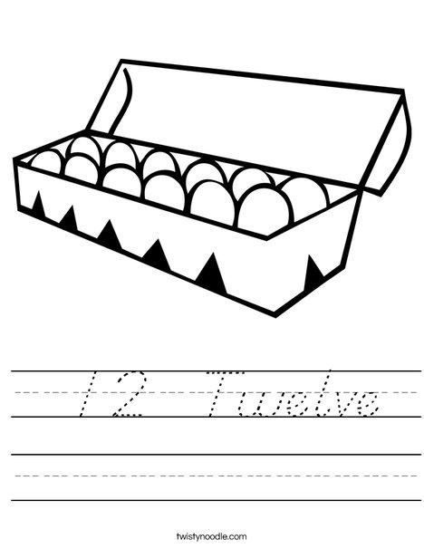 Dozen Eggs Worksheet