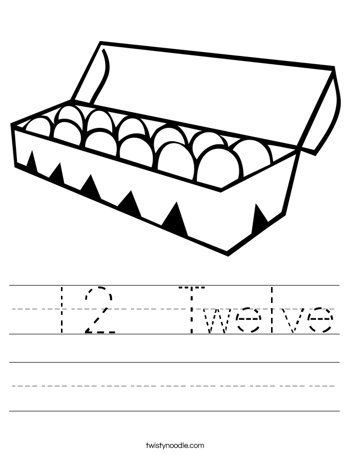 12  Twelve Worksheet