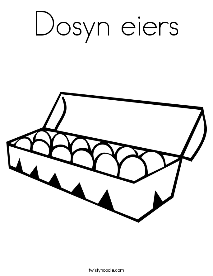 Dosyn eiers Coloring Page