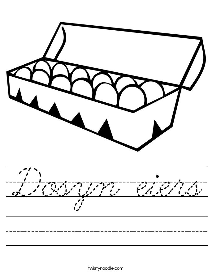 Dosyn eiers Worksheet